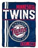 Northwest MLB Minnesota Twins Micro Raschel Throw, One Size, Multicolor