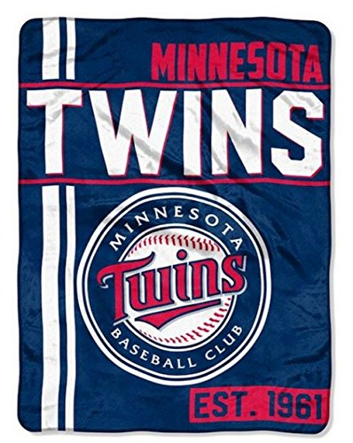 Northwest MLB Minnesota Twins Micro Raschel Throw, One Size, Multicolor