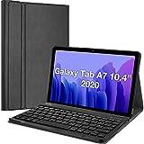 ProHülle Deutsche Tastatur Hülle für Galaxy Tab A7 10.4 Zoll 2020 (SM-T500 T505 T507) Keyboard Cover, Superdünn Schutzhülle mit Magnet Abnehmbar Kabellos Tastatur –Schwarz