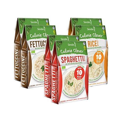 Shirataki Slendier pâtes de konjac biologique - paque d´essai fitness 6 x 400 g