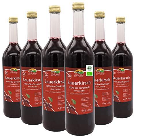 Bleichhof Bio-Sauerkirschsaft (6x 0,72l) - 100% Direktsaft, bio, naturrein & vegan. OHNE Zuckerzusatz.
