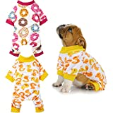 2 Pieces Dog Pajamas Cute Pet Onesies Dog Jumpsuits Puppy Rompers Pet Warm Apparel Clothes for Puppy Small Dogs, M Size