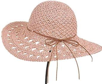 Summer lady handmade crochet hat Korean all-match leather rope along the beach cap M8013-6
