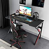 soges Gaming Bureau Gamer Bureau Informatique Ordinateur Gamer Pro Bureau Informatique,120 * 60 * 72CM,Noir