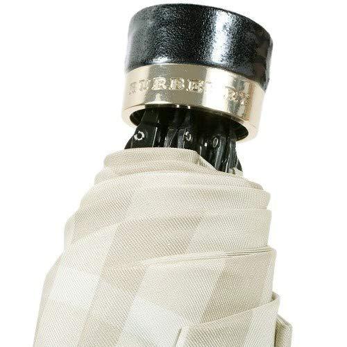 (バーバリー)BURBERRYレディースチェック折りたたみ傘ライトベージュ