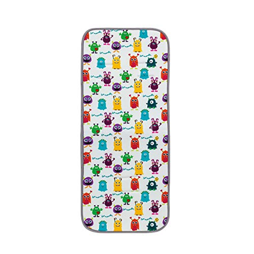 Interbaby Little Monsters - Colchoneta Universal Para Silla De Paseo, Multicolor, 0C050