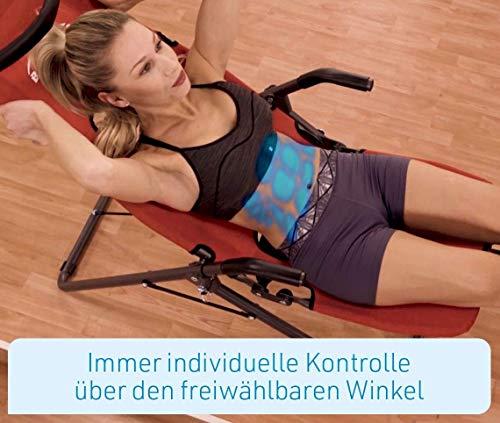 Mediashop BackLounge   Inversions-Rücken-Trainer   Inversionsbank   Streckung der Wirbelsäule   bis zu 110 kg dynamisch, 250 kg statisch belastbar   integrierte Massagerollen   zusammenklappbar - 6