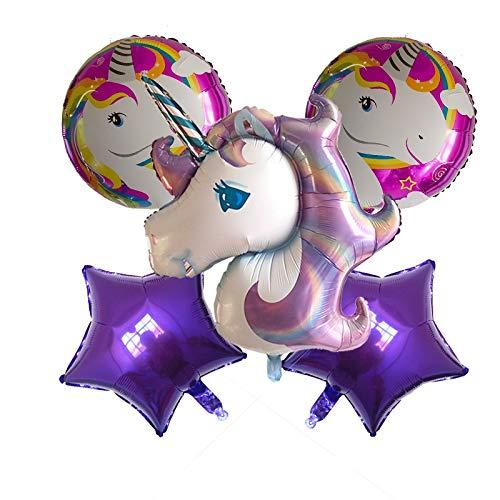 ZWYCEX Globos Ampliación de Rosa púrpura Iridiscente Unicornio de 18 Pulgadas Globo de cumpleaños del Globo Paquete transfronteriza Venta de Amazon ( Size : 4 )