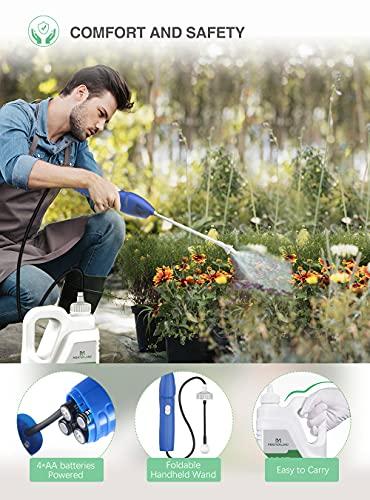 moistenland Pumpless Battery Powered Sprayer 68oz/2L, Handheld Sprayer for Indoor/Outdoor Weeding, Lawn & Garden, Household Cleaning(Blue)