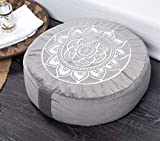 "💮 DIMENSION: 16"" diameter x 5"" height 💮 BENEFITS: We use high quality, made-to-last materials with the best buckwheat hulls so the cushion will not flatten overtime and will stay comfortable and supportive for years to come. Our meditation cushion is..."