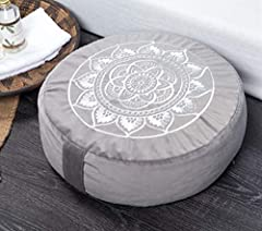 """💮 DIMENSION: 16"""" diameter x 5"""" height 💮 BENEFITS: We use high quality, made-to-last materials with the best buckwheat hulls so the cushion will not flatten overtime and will stay comfortable and supportive for years to come. Our meditation cushion is..."""