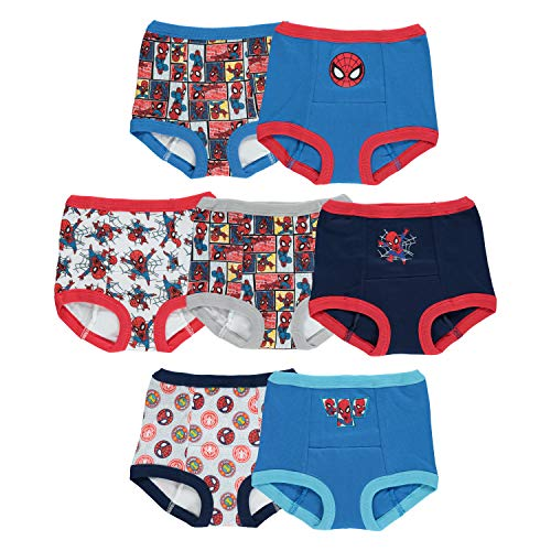 Spider-Man Unisex Baby Potty Training Pants Multipack, Spidy 7, 4T