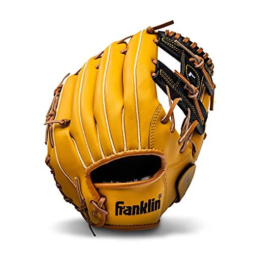 Franklin Sports Baseball and Softball Glove - Field Master - Baseball and Softball Mitt Tan, 11'
