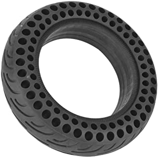 10 Inch Front/Rear Scooter Tire Wheel Solid Replacement, Black Durable Solid Rubber Wheel Tire Tyre for Electric Scooter Skateboard