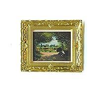 QINXI 1:12 ドールハウス 油絵モデル アンティーク マニー フォトフレーム ハンド 壁画 クラシック 壁装飾 ドールハウス ミニチュア アート 絵画 装飾アクセサリー