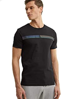 Calvin Klein Men HORIZONTAL CK PANEL TEE T-Shirt