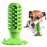 AIMI Dog Toothbrush Chew Toy Puppy Toys Teeth Cleaning Stick Natural Rubber Dental Care Toothbrush, Dog Toys (for Medium and Large Dogs)(Green)