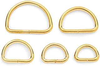 Metal D Ring Set, Multi-Purpose for Sewing, DIY Crafts (Gold, 5 Sizes, 150 Pieces)