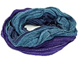 Guru-Shop Weicher Loop Schal/Stola, Magic Loopschal, Weste, Herren/Damen, Blau/violett, Baumwolle, Size:One Size, Schals Alternative Bekleidung