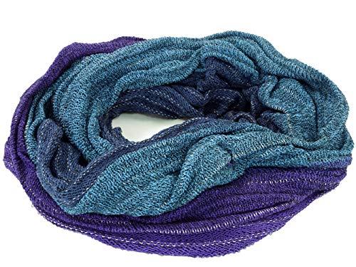 GURU SHOP Weicher Loop Schal/Stola, Magic Loopschal, Weste, Herren/Damen, Blau/violett, Baumwolle, Size:One Size, Schals Alternative Bekleidung