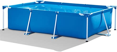 YUHT Inflatable Swimming Pool,Folding Pool Rectangular Swimming Pool/PVC Material/with Air Pump Pool Toy Filter Pump/for Kids and Adults