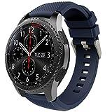 TiMOVO Correa de Reloj Compatible con Samsung Gear S3 Frontier/Galaxy Watch 3 45mm, Banda de Silicona Compatible con Huawei Watch GT2 Pro/GT 2e/GT 46mm/GT2 46mm/Ticwatch Pro 3 - Azul Medianoche