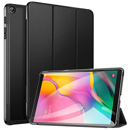 ZtotopCase for Samsung Galaxy Tab A 10.1 2019, Ultra Slim Lightweight Trifold Stand Smart Folio Case Hard Cover for Samsung Tab A 10.1 Inch Tablet SM-T510/SM-T515 2019 Release - Black