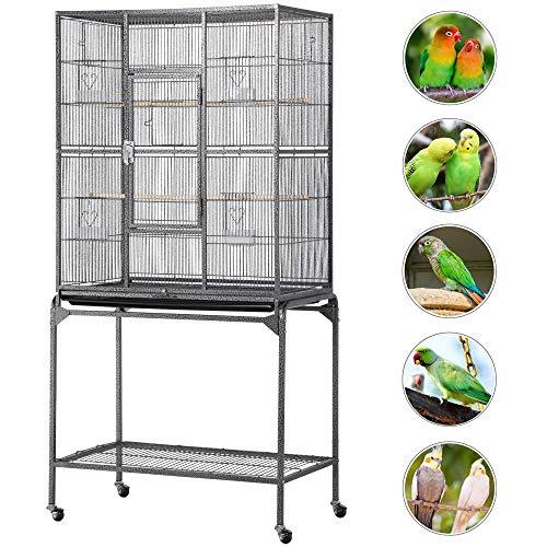 Yaheetech Vogelvoliere XL Vogelkäfig Vogelhaus Tierkäfig 160cm hoch Voliere Vogelbauer Käfig Zimmervoliere