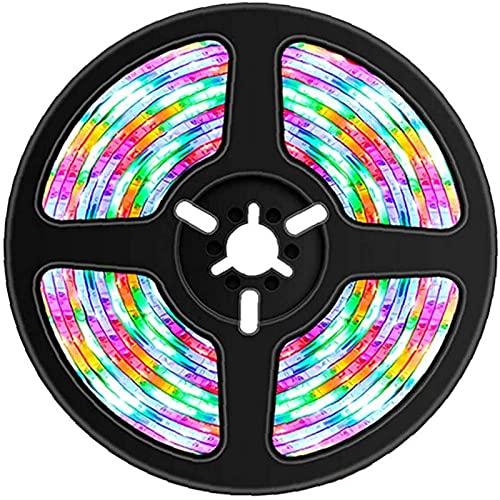 QHCS Lámpara de Cadena, Tira de LED, Tira de luz Que Cambia de Color RGB, Inteligente a Prueba de Agua para Dormitorio, TV, Fiesta, decoración DIY, Luces Decorativas para Exteriores de 4M