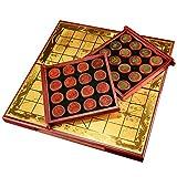 N / B Juego de ajedrez Chino para el hogar, Tablero de ajedrez de Madera Maciza marrón Sangre Natural, Tablero de ajedrez Plegable, Regalo de Juego de ajedrez para Dos Adultos