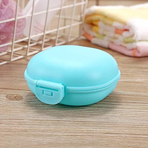 ZHNINGUR Baño Plato Placa Caso del Recorrido del hogar de la Ducha Soporte del contenedor de jabón Caja de plástico Caja de jabón dispensador de jabón en Rack