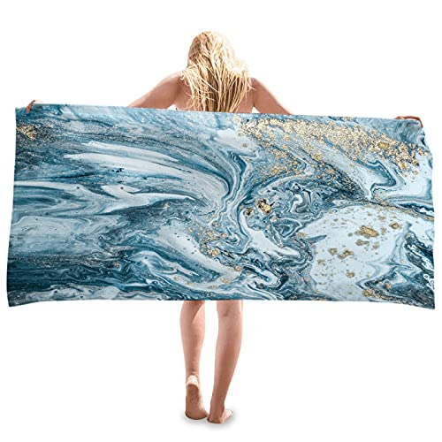 LZYMLG Toalla de playa, súper absorbente, 80 x 160 cm, microfibra de fibra libre de arena, apta para camping, mochilero, gimnasio, playa, natación, yoga