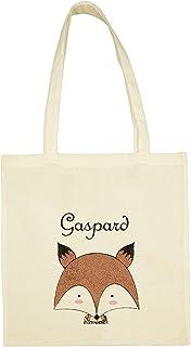 C38 Tote Bag Petit Renard à personnaliser - sac renard à personnaliser - sac shopping - sac de courses - sac personnalisé...