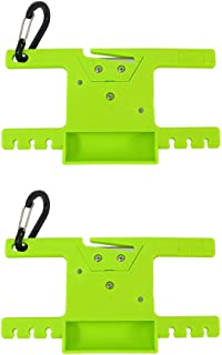 Survival Paracord Spool Tool Rope Winder 550 Paracord Keeper Parachute Cord Organizer Line Reel Multifunctional Outdoor Survaval Tool with Carabiner