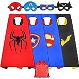Sinoeem Disfraz de superhéroes para niños, 4 piezas, disfraz con máscara, juguete a partir de 3 – 12 años, ropa para niñas, regalos para cumpleaños, Halloween o carnaval (4 piezas).