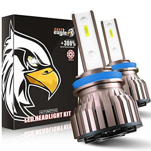 EASY EAGLE H11 LED 10800LM Bombillas para Montaje de Faros Delanteros de Coches, 12V, 6000K