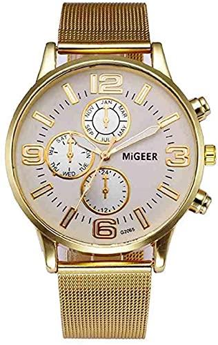 Mano Reloj Reloj de pulsera Vestido de mujer Reloj de lujo Reloj de cuarzo de acero inoxidable Banda de malla de acero inoxidable Pulsera de oro casual Reloj de pulsera Reloj Mujer Relojes Decorativos
