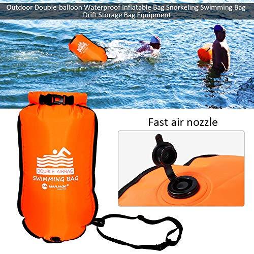 winnerruby Bolsa Flotante Inflable Impermeable Flotante, Flotador de Seguridad para Nadar, Bolsas de Aire Doble Bolsa Inflable de natación, PVC Engrosado, Resistente al Entrenamiento, Kayak