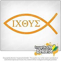 キリスト教 - 魚 Christianity - fish 20cm x 8cm 15色 - ネオン+クロム! ステッカービニールオートバイ