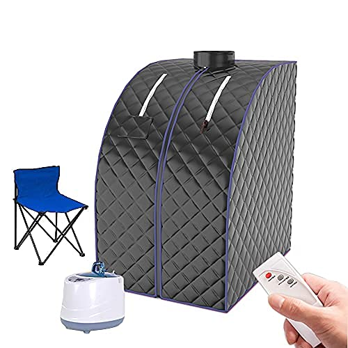 AnMoreH Portable Steam Sauna Spa, 2L Personal Sauna for Relaxation Home Sauna Spa Tent with Remote...