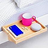 BedShelfie The Original Bedside Shelf for Bed and Bunk Bed Shelf 4 Colors / 6 Styles As Seen On Business Insider for Best College Dorm Room Essentials (Original Size, Natural Bamboo Color)