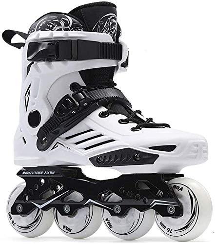 Fitness Erwachsene Inline Skates High Performance Roller Skates for Frauen und der Männer im Freien Beruf Anfänger Kinder Inline Skates Unisex Schwarz / Weiß, Größe: 43 EU / 10 US / 9 UK / 26.5cm JP,