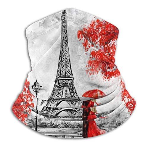 Ewtretr France Paris Eiffelturm Valentinstag Halsmanschette Wärmer Männer Frauen Warme Winddichte Halsmanschette Tube