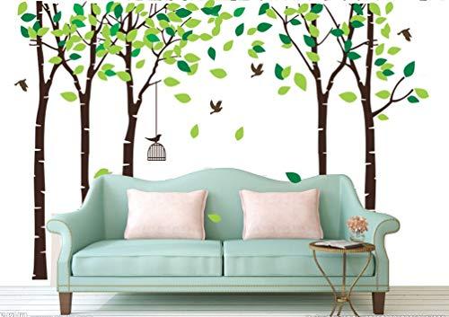 BDECOLL Adesivi Murali-alberi decalcomanie da muro Birdcage-Camera Dei Bambini Vivai Adesivi da Parete Removibili/Stickers Murali/Decorazione Murale (Marrone)