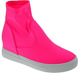 Forever Hidden 07 Womens Pull On Platform Fashion Sneakers
