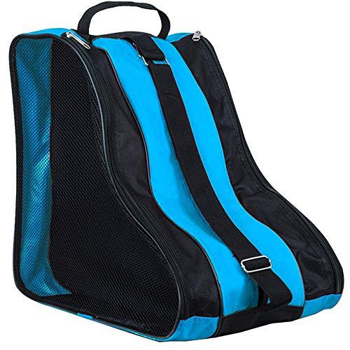 LINVINC Bolsa para Patines Unisex - Patines de Hielo Skate Bag Mochila Protecciones Patines en Linea Adulto Niños Azul
