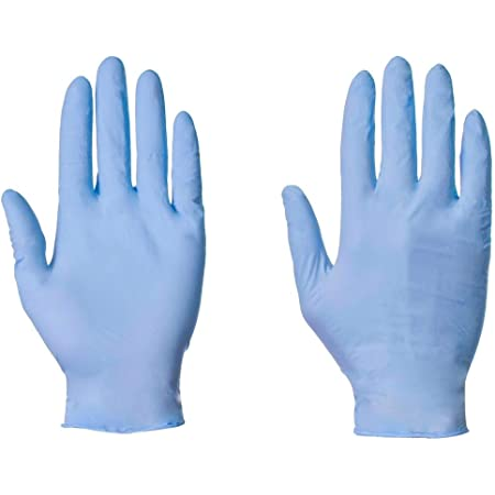 Small, Clear UK Stock of High Quality Clear//Blue Powder Free and Latex Free Vinyl Disposable Medical Grade Box of 100 Gloves Next Day Delivery with  Prime