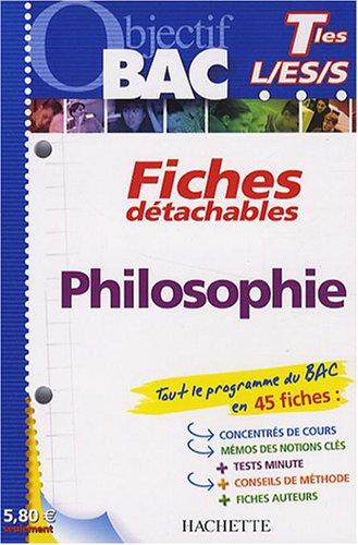 Objectif Bac - Fiches détachables - Philosophie Tles L,ES,S PDF Books