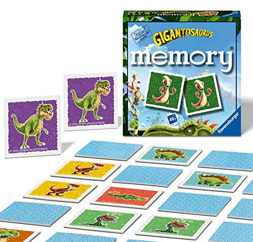 Ravensburger Gigantosaurus - Mini Memory Game for Kids Age 3 Years and up