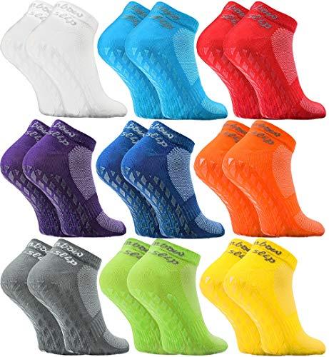 Rainbow Socks - Damen Herren Quarter Sport Socken ABS - 9 Paar - Mehrfarbig - Größen EU 39-41
